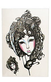 1pc Phoenix Female Role in Chinese Opera Flower Arm Sleeve Tatoo Women Men Body Art Temporary Tattoo Sticker HB-017
