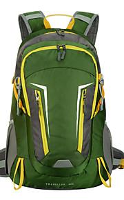 40L L mochila Acampada y Senderismo Al Aire Libre A Prueba de Golpes / Multifuncional / Transpirable Verde / Rojo / Azul Nilón / Terileno