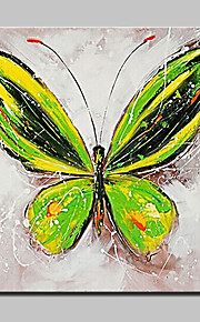 Hånd-malede Abstrakt / Dyr / Tegneserie / Pop Oliemalerier,Moderne Et Panel Canvas Hang-Painted Oliemaleri For Hjem Dekoration