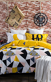 Triangle 800TC bedding sets Queen King size Bedlinen printing sheets pillowcases Duvet cover sanding Cotton Fabric