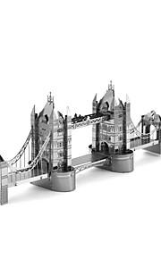 Rompecabezas Puzzles 3D Bloques de construcción Juguetes de bricolaje Edificios famosos 1 Metal Plata juguete del juego