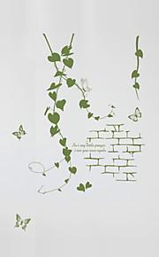 Botanisk / Romantik / Fashion Wall Stickers Väggstickers Flygplan Dekrativa Väggstickers,PVC MaterialTvättbar / Kan tas bort / Kan