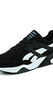 Черный / Синий / Серый-Мужской-Для прогулок / На каждый день / Для занятий спортом-Полиуретан-На плоской подошве-С круглым носком / На
