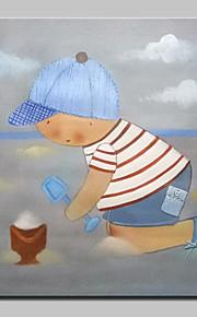 Peint à la main Personnage / Bande dessinée Peintures à l'huile,Modern Un Panneau Toile Peinture à l'huile Hang-peint For Décoration