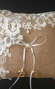 Champagne 1 Ribbons / Faux Pearl / Embroidery Linen