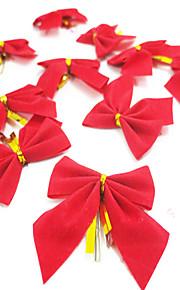 12шт / серия подарка рождества рождественской елки украшения рождества бантом