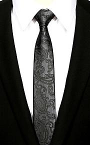Men Vintage / Cute / Party / Casual Neck TiePolyester PrintBlack All Seasons