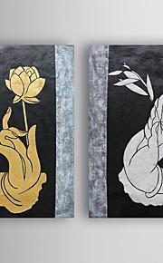 Håndmalte Still Life olje~~POS=TRUNC malerier~~POS=HEADCOMP,Moderne To Paneler Lerret Hang malte oljemaleri For Hjem Dekor