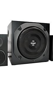 Teng teknologi jt909 multimedia computer med bluetooth 2,1 g træ lyd subwoofer hi-fi-kort