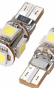 automobile ha condotto le luci T10 larghezza t10-5050-5smd spettacolo di luci ampia luce / lampada di lettura / luci dello strumento