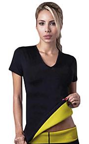 hot Shapers kvinner neopren slanking träning t-skjorter svette shapewear