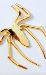 Adesivo ragno metallico 3d ragno stereo posta logo testa