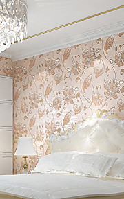 European Red Floral Wall Paper 3D Embossed Non-Woven Wallpapers For Living Room Flower Wallpaper
