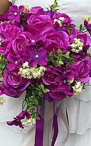 """Bryllupsblomster Rund Roser Buketter Bryllup / Fest & Aften Sateng 11.02""""(Ca. 28cm)"""