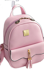 Women PU Casual / Outdoor / Shopping Backpack Pink / Black