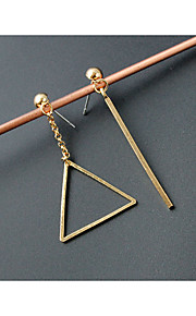 EarringStud Earrings Geometric / Triangle ShapeJewelry 1 pair Fashionable / Personality Alloy / Acrylic Gold Wedding
