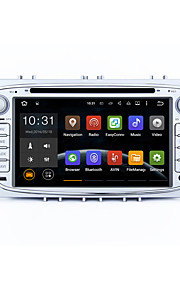7 2 DIN Android 5.1.1 lollipop bilstereo radio hd 1024 * 600 muti-touch screen GPS til ford fokus 2 s-max mondeo