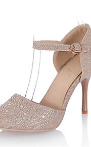 Homme-Mariage / Habillé / Soirée & Evénement-Argent / Or-Talon Aiguille-D'Orsay & Deux Pièces-Chaussures à Talons-Paillette / Matières