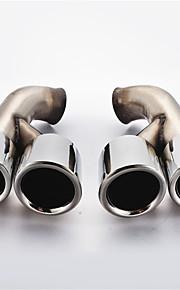 roestvrij staal auto staart uitlaatpijp keel
