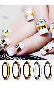 3pcs Nagel-Kunst-Aufkleber Folie Stripping Band Make-up kosmetische Nail Art Design