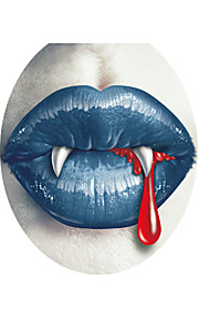 3D Wall Stickers Wall Decals Style Lips Giant Teeth PVC Wall Stickers