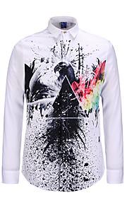 Chemise Pour des hommes A Motifs Décontracté Polyester Manches longues Multicolore