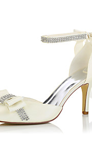 Homme-Mariage / Habillé / Soirée & Evénement-Beige-Talon Aiguille-Bout Pointu-Chaussures à Talons-Soie