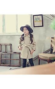 Mädchen Anzug & Blazer-Lässig/Alltäglich einfarbig Baumwolle Frühling / Herbst Braun