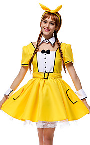 Performance Outfits Women's Performance Lace / Pick-Ups 6 Pieces Yellow Performance Short Sleeve NaturalBelt / Dress
