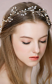 Women's Rhinestone / Alloy Headpiece-Wedding /OutdoorHeadbands / Hair Combs / Flowers / Hair Stick / Hair