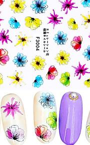 1 Nagel-Kunst-Aufkleber 3D Nails Nagelaufkleber Blume / Abstrakt Make-up kosmetische Nail Art Design