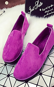 Women's Loafers & Slip-Ons Fall Comfort Leatherette Casual Flat Heel Others Black / Blue / Purple / Gray Others