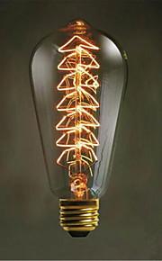 נורות הדקורטיביות רטרו יצירתי עץ חג מולד אדיסון st64 (40W E27)
