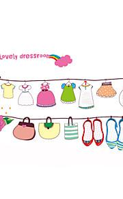 Животные / Рождество / Геометрия Наклейки Простые наклейки Декоративные наклейки на стены,PVC материалВлажная чистка / Съемная /