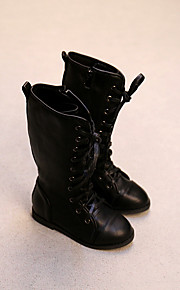 Girl's Boots Comfort Leatherette Casual Black