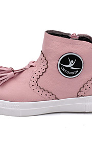 Girl's Boots Others Leather Casual Black Pink White