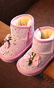 Girl's Boots Comfort Synthetic Casual Black Pink