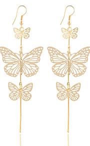 Boucle Sans pierre Boucles d'oreille goutte Bijoux Femme / Filles Halloween / Mariage / Soirée Alliage / Plaqué argent / Plaqué or 1 paire