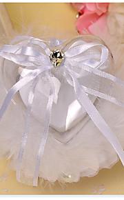 White 1 Ribbons / Bow / Faux Pearl Satin