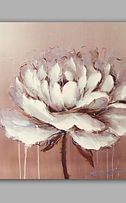 Hand-Painted Abstract / Floral/Botanical Classic/Modern One Panel Canvas Oil Painting For Home Decoration