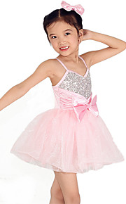Dresses Performance Spandex /Tulle Bow(s) / Paillettes / Sash/Ribbon / Sequins 1 Piece Ballet Sleeveless High