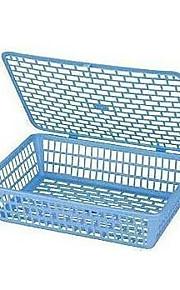 924a קובץ פלסטיק אחסון מתלה סל סל נייר עם תיבת אחסון סל מסמך כיסוי