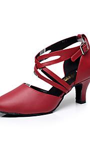 Для женщин-Кожа-Персонализируемая(Черный / Красный) -Латина