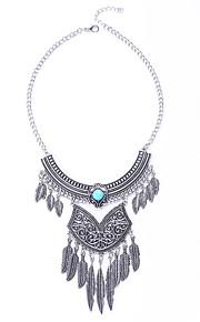 Modische Halsketten Türkis / Obsidian Schmuck Halloween / Party / Alltag / Normal Modisch / Euramerican Aleación Silber 1 Stück Geschenk