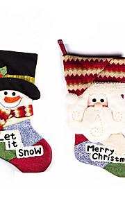 1pc סנטה קלאוס חג המולד מתנה שקית מתנה לחג המולד מתנות חג המולד (צבע אקראי)