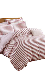 Mingjie  Wonderful Pink Stripes Bedding Sets 4PCS for Twin Full Queen King Size from China Contian 1 Duvet Cover 1 Flatsheet 2 Pillowcases