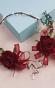 Women's Rhinestone / Fabric Headpiece-Wedding / Special Occasion / Casual Wreaths 1 Piece