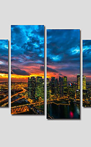 Stretched Canvas Print Landscape Modern,Four Panels Canvas Any Shape Print Wall Decor For Home Decoration