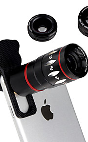 4 in 1 Universal Clamp Camera Lens with clip(10x Telephoto Lens/ Fisheye Lens/ 0.67x Wide Angle Lens/ 10xMacro Lens) for iPhone 6 6S Plus 5S
