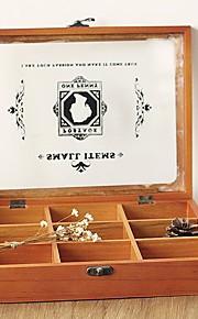 קופסאות אחסון מעץ קופסאות תכשיטים zakka של תשעה ריבועים 588g